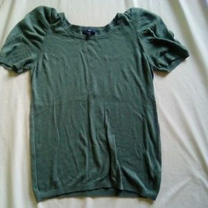 Women's Forest Green Poofy Short Sleeve Tee Size L